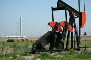 wind and pumpjack